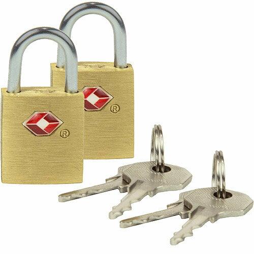 《TRAVELON》TSA行李鑰匙鎖2入(金)