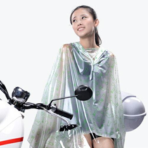 雨衣 印花透明鏡套成人雨衣/摩托車雨衣【EL0007】 BOBI  10/06 0