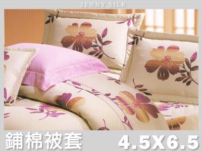 【名流寢飾家居館】風情萬種.100%精梳棉.單人兩用鋪棉被套.全程臺灣製造