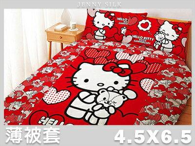 【名流寢飾家居館】Hello Kitty.40周年紀念.單人薄被套.全程臺灣製造
