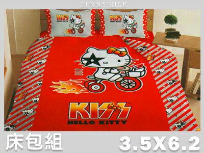 【名流寢飾家居館】熱火.Hello Kitty.加大單人床包組.全程臺灣製造