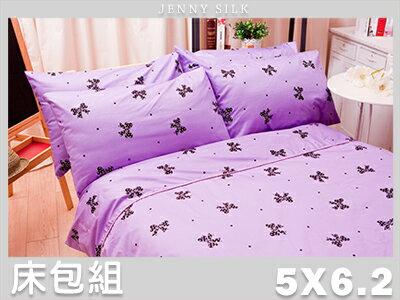 【名流寢飾家居館】蝴蝶結派對.100%精梳棉.標準雙人床包組.全程臺灣製造