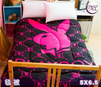 【名流寢飾家居館】PLAYBOY.亮彩粉.雙面花色.暖暖被.保暖毛毯被.全程臺灣製造