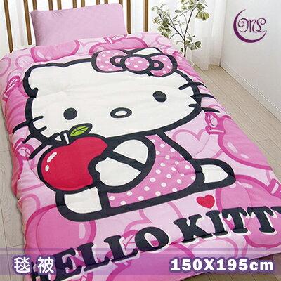 【名流寢飾家居館】Hello Kitty.心蘋果樂園.暖暖被.雙面花色.保暖毛毯被.特惠780元