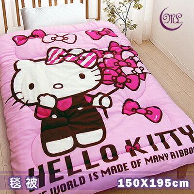 【名流寢飾家居館】Hello Kitty.蝴蝶飄飄樂.暖暖被.雙面花色.保暖毛毯被.特惠780元