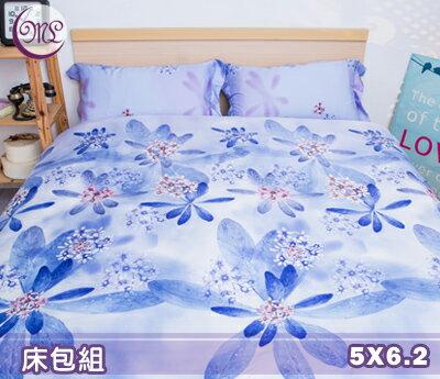【名流寢飾家居館】馨香紫花.100%天絲.超柔觸感.標準雙人床包組
