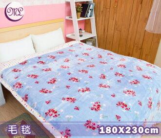 【名流寢飾家居館】大阪寢屋川.保暖毛毯.點點玫瑰情.180x230cm
