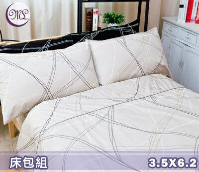 【名流寢飾家居館】線性空間.100%精梳棉.加大單人床包組.全程臺灣製造