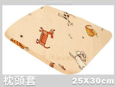 【名流寢飾家居館】可愛家族.100%精梳棉.嬰兒圓形工學枕布套.全程臺灣製造