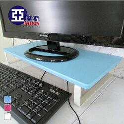 桌上架 螢幕架 層架【LAW002】韓式清新無壓感扁鐵桌上架 Amos
