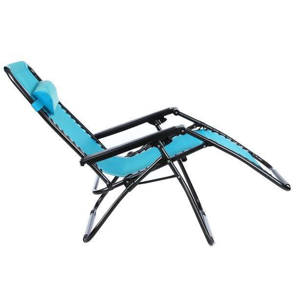Folding Zero Gravity Reclining Lounge Portable Garden Beach Camping Outdoor Chair 5