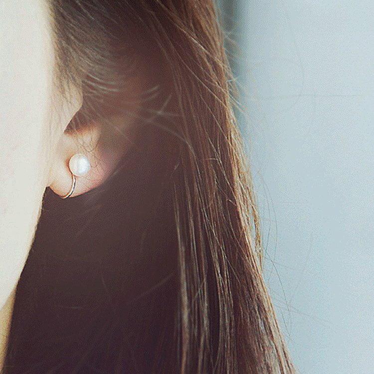【極簡時尚】925銀天然珍珠簡約氣質無耳洞耳夾耳針耳環