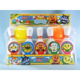 【真愛日本】16071600014保齡球玩具遊戲組-ANP   電視卡通 麵包超人 細菌人 兒童玩具 正品 限量