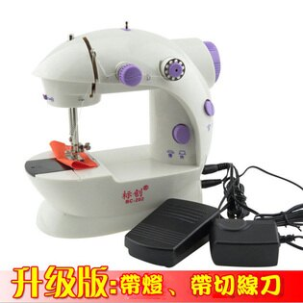 糖衣子輕鬆購【BA0148】迷你裁縫機迷你縫紉機攜帶型裁縫機小型雙線附踏板+充電器裁縫機縫紉機針線