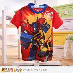 男童裝 變形金剛授權正版涼感短袖T恤 魔法Baby~k50491