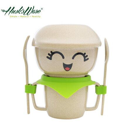 美國Husk's ware 稻殼天然無毒環保兒童餐具 人偶迷你款~綠色~悅兒園婦幼 館~