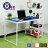 辦公桌 電腦桌 書桌 樂活雙向層架式多功能120*60大桌面工作桌 【DCA017】 Amos 台灣製造 1