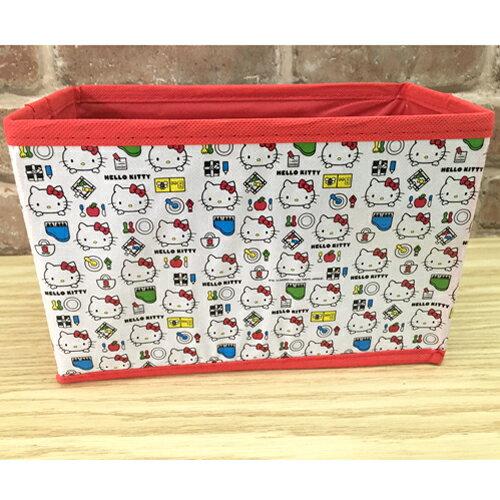 【真愛日本】17060900016 摺疊小物收納箱-KT 三麗鷗 kitty 凱蒂貓 玩具收納箱 置物箱 居家收納