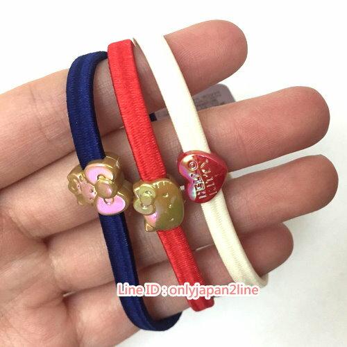 【真愛日本】17021500021彩色髮圈3入組-KT紅AAB  三麗鷗 Hello Kitty 凱蒂貓    髮束  飾品  美髮用品