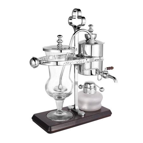 金時代書香咖啡 Tiamo CF-450 比利時壺 維也納壺 虹吸壺免用濾布 銀色