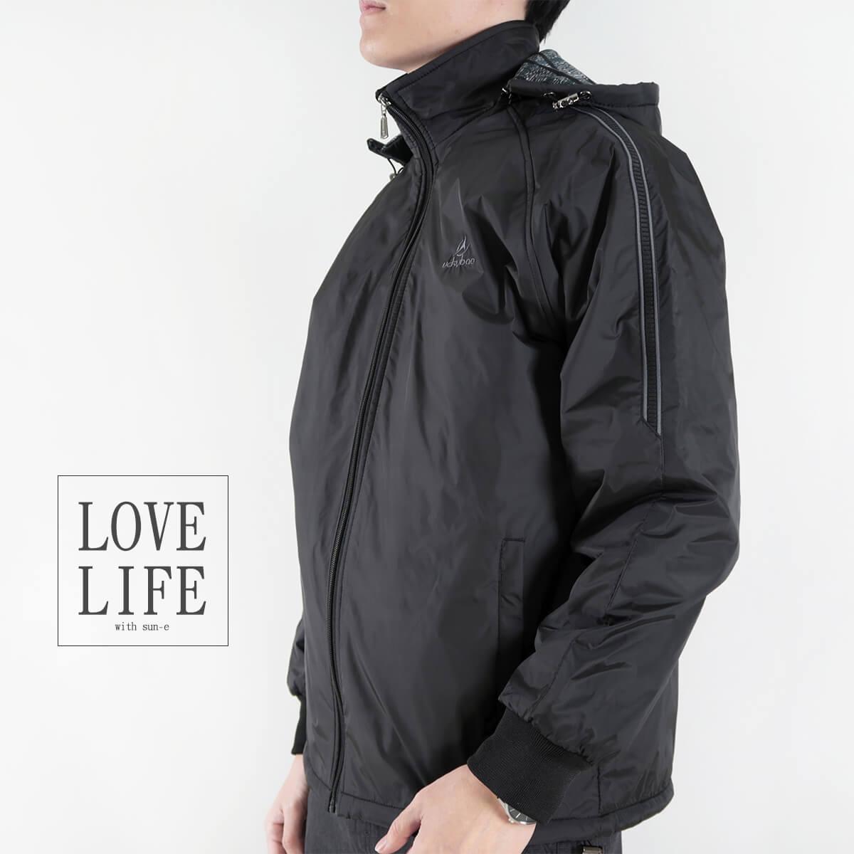 內舖絨布保暖風衣外套 保暖外套 騎士外套 夾克外套 防風外套 黑色外套 FLANNEL LINED WINDBREAKER JACKETS (312-6077-21)黑色 L XL 2L(胸圍46~51英吋) [實體店面保障] sun-e 6