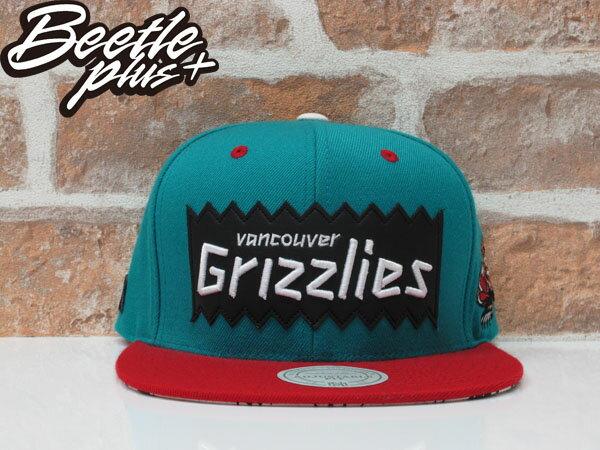 BEETLE PLUS 全新 MITCHELL&NESS X BAIT X NBA GRIZZLIES 溫哥華灰熊 湖水綠 紅 聯名 後扣棒球帽 0
