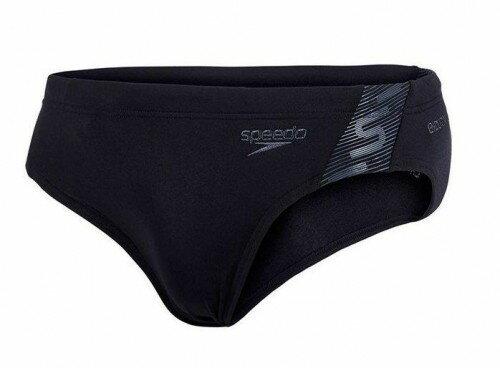 [陽光樂活]SPEEDO-男人運動三角泳褲 Monogram SD8087418815 黑-灰