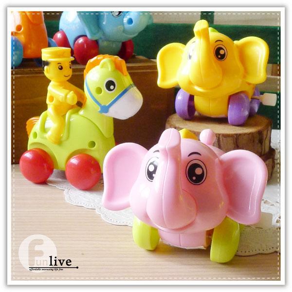 【aife life】發條大象騎馬玩具/小鹿發條玩具/大象發條玩具/馬車發條玩具/會左右搖擺及前進/益智遊戲