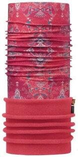 【【蘋果戶外】】BF113105西班牙BUFF魔術頭巾洋紅圖騰兩段式保暖頭巾Polartec保暖纖維脖圍維脖圍