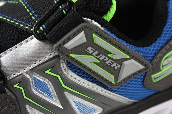SKECHERS  LIGHTS 運動鞋 電燈鞋 童鞋 灰色 90512LSLBL no982 5