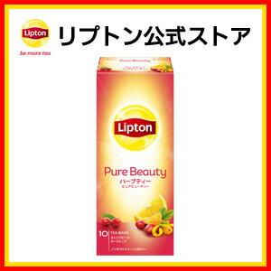 Lipton立頓 Herb Tea Pure Beauty茶包 美顏花茶-柳橙玫瑰果 10袋入 (21g)