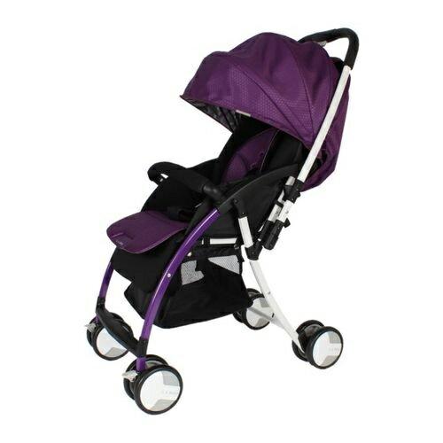 ★衛立兒生活館★L.A. Baby 美國加州貝比 超輕量 雙向嬰兒手推車-紫色