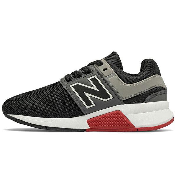 Shoestw【PH247FB】NEW BALANCE NB247 中童鞋 運動鞋 鬆緊帶 免綁帶 襪套 Wide 網布 黑灰紅 1