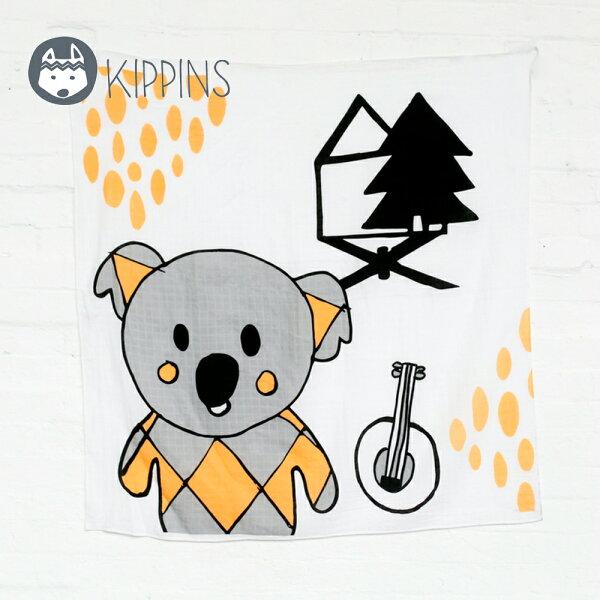 YODEE 優迪嚴選:Kippins澳洲有機棉包巾動物造型包巾–可愛無尾熊BANJOKIPPINTALE