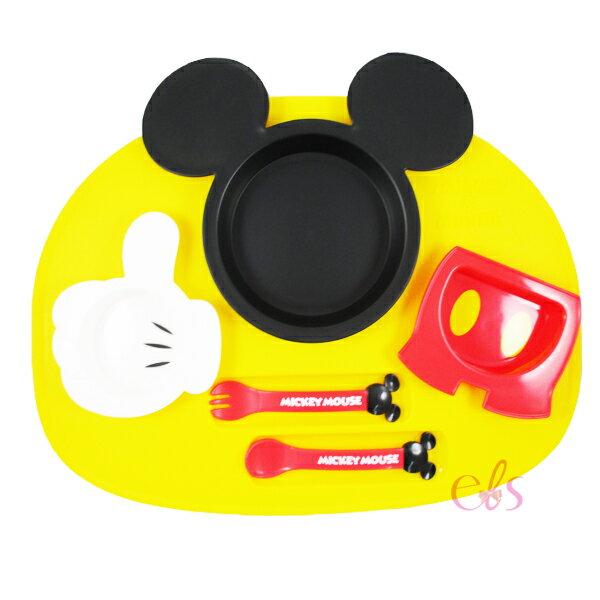 日本 DISNEY 迪士尼 米奇 造型食物餐盤套裝 ☆艾莉莎ELS☆