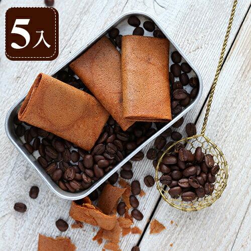 【糖村SUGAR & SPICE】義式咖啡薄捲餅5入 禮盒