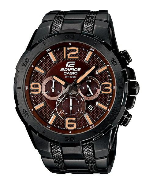 CASIO EDIFICE EFR-538BK-5A極惡荒地時尚流行腕錶/咖啡面49mm