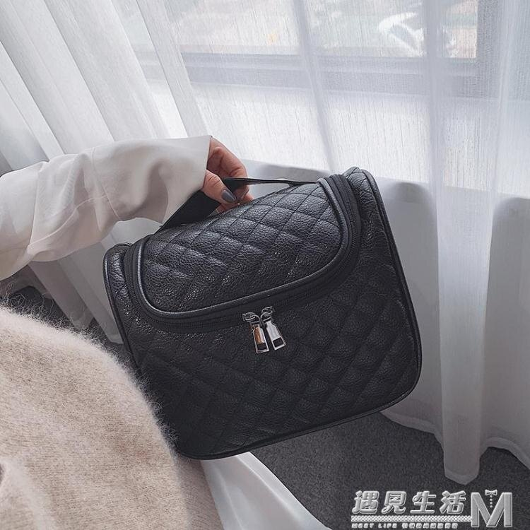 旅行洗漱包簡約防水手提超大容量韓國收納包出差多功能便攜化妝包