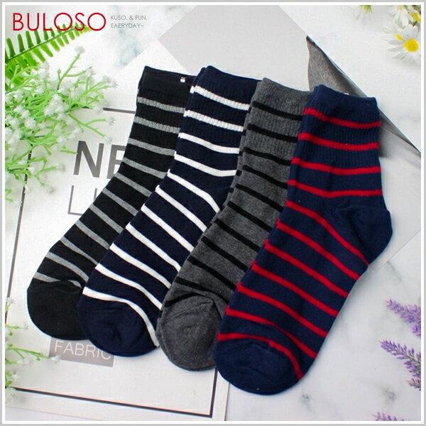 《不囉唆》沉靜系條紋造型四分襪襪子學生襪韓風中筒襪(可挑色款)【A304324】