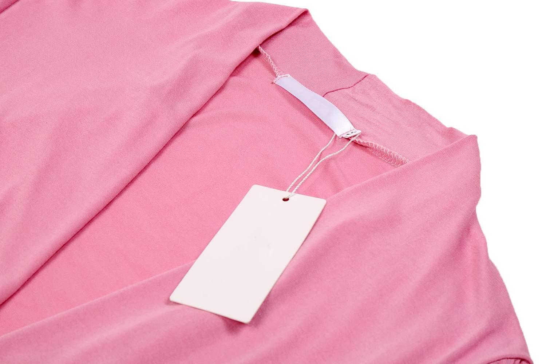 Women Irregular Open Stitch Solid Asymmetric Hem Long Cardigan Jacket 2