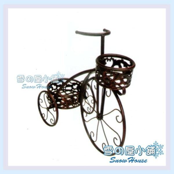 ╭☆雪之屋小舖☆╯9-4201P57造型腳踏車雙盆花架置物架收納架婚禮佈置