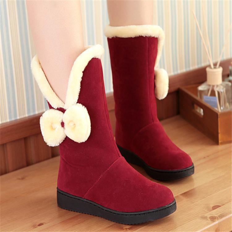 女童短靴 冬季女童鞋保暖雪地靴子LJ1330『miss洛羽』