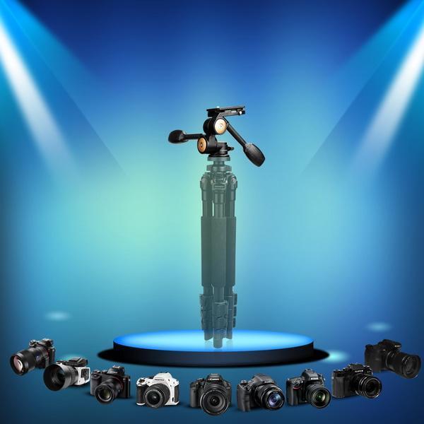 Double Handle Camera Tripod Head 360 Degree Hydraulic Damping Ball Head 3