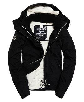 極度乾燥 Superdry Pop Zip Hooded Arctic Windcheate 白色內裡黑色外套 防風外套 女款