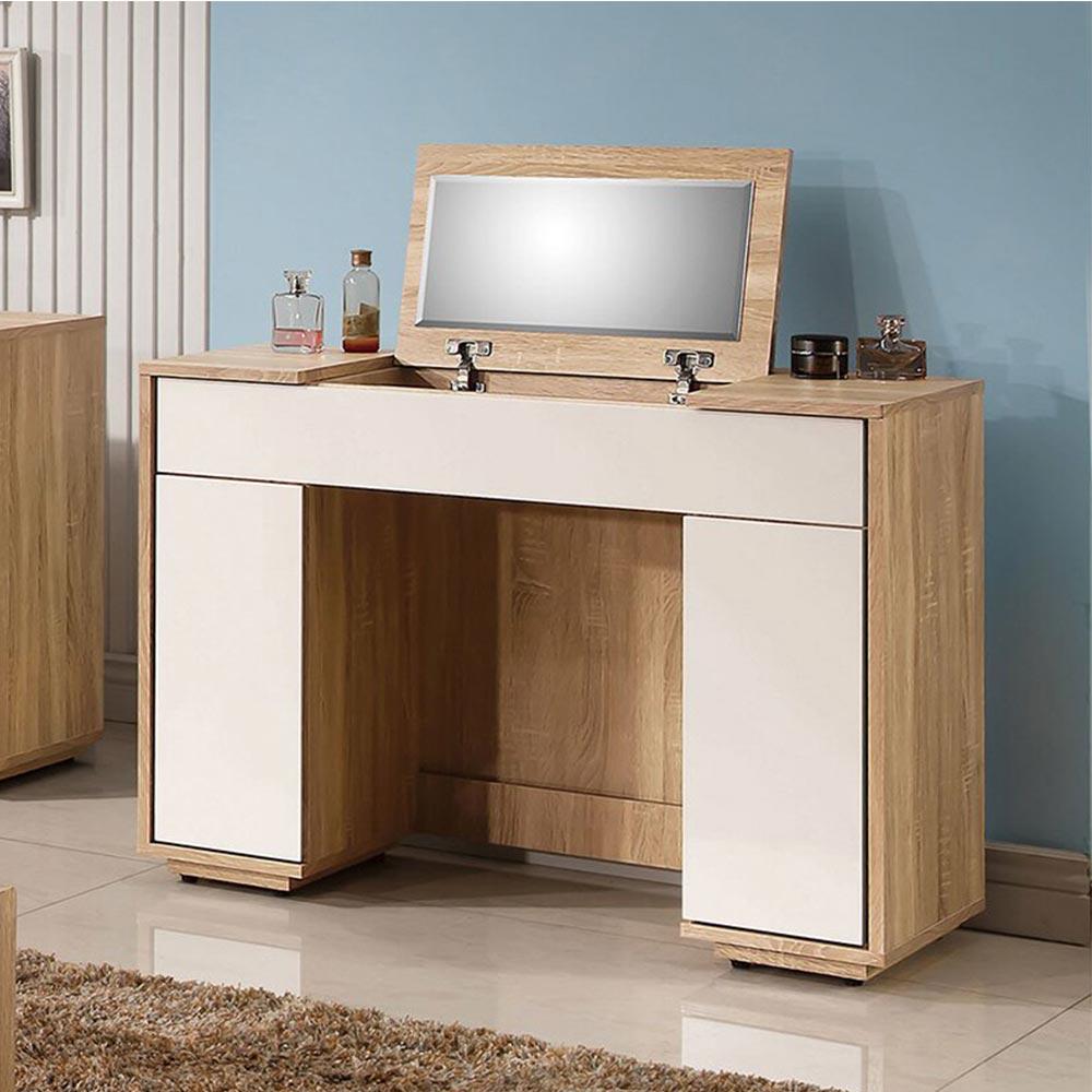 多莉絲3.3尺掀式鏡台(含椅)/H&D東稻家居-消費滿3千送點數10%