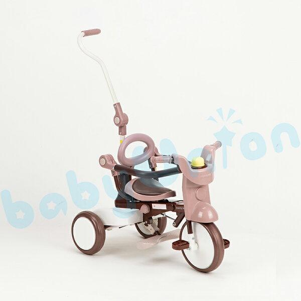 DeDeBaby-摺疊三輪車咖啡色
