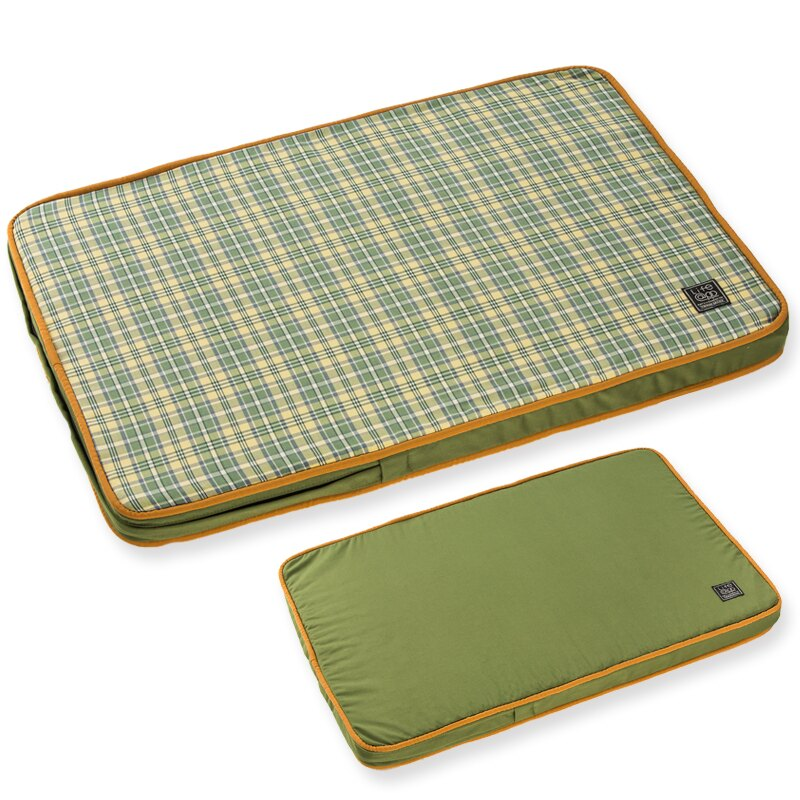 ~Lifeapp~寵物緩壓睡墊XS ^(綠格紋^) W45 x D30 x H5 cm