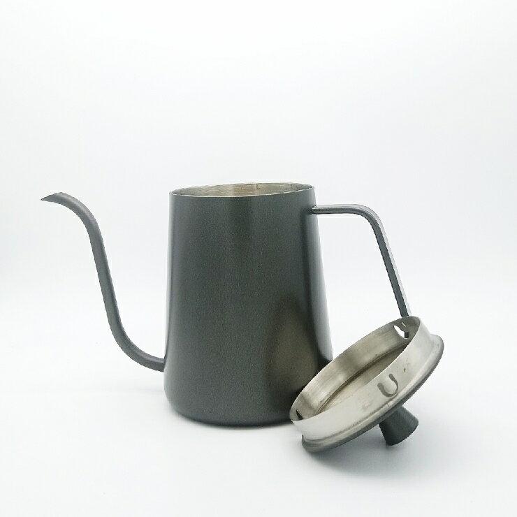 不鏽鋼細口壺黑600ml  細口壺 手沖壺 茶壺 宮廷壺