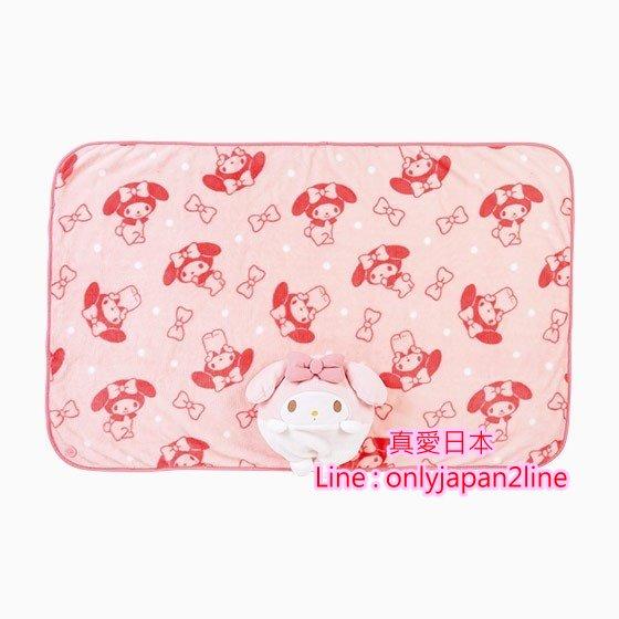 【真愛日本】16101400051  立體造型收納毛毯靠枕-MM粉結   三麗鷗家族 Melody 美樂蒂   毯子 毛毯