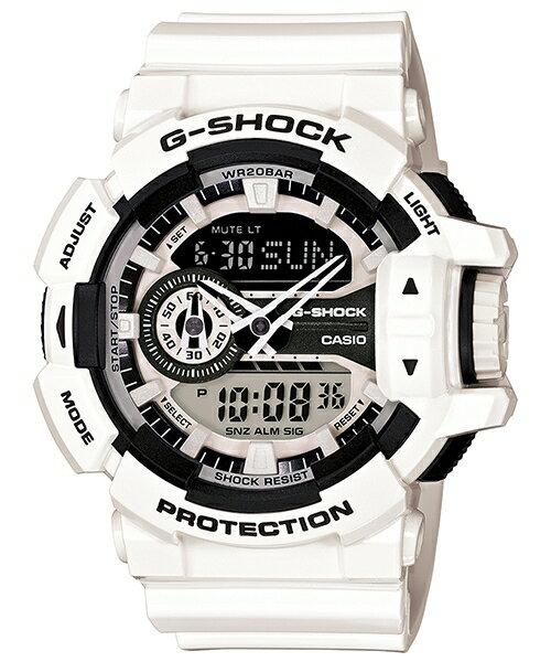 國外代購 CASIO G-SHOCK GA-400-7A 雙顯 大錶面 運動防水手錶腕錶電子錶男女錶 白武士
